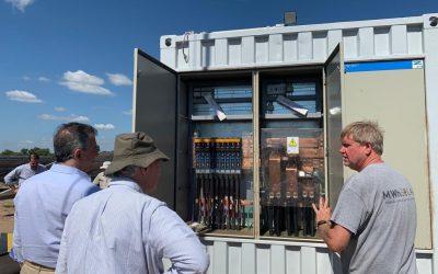 Etchevehere visitó en San Luis el primer parque solar para la producción agrícola