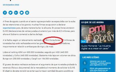 RIA Consultores en los medios: DJVE's en Ambito.com